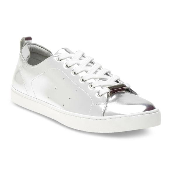 ea2100d92afc ❗️SALE❗️New Aldo Metallic Silver Women Sneakers